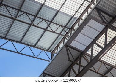 metal sheet roof light frame structure for large building