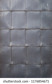 Metal sheet square pattern background