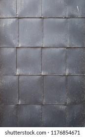 Metal sheet square pattern background