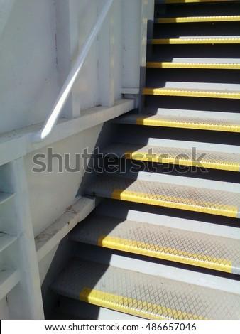 Metal Ship Staircase