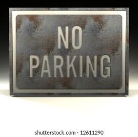 metal sign no parking