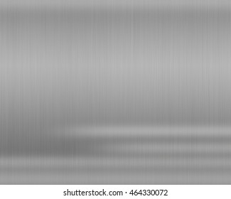 Metal silver background or texture of brushed steel plate