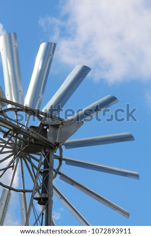 metal small wind turbine wind powered stock photo edit now