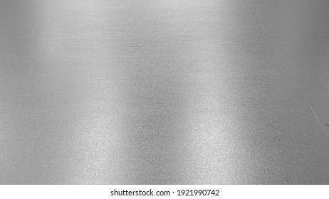 Metal stainless steel texture  background with reflection light
