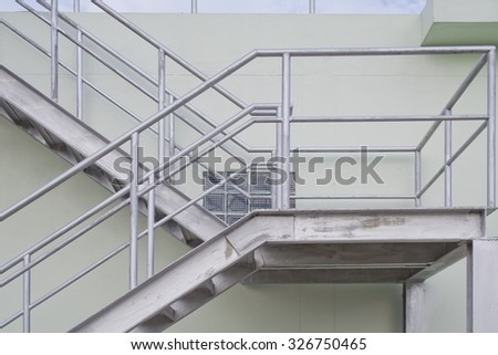 Metal Stairs Outside Business Building