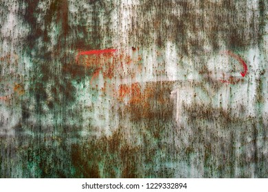Metal or steel colorful background or texture of a warehouse gate or wall.