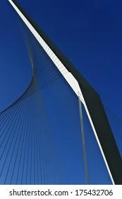 Metal structure of a bridge