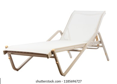 metal sunbed isolated on white background