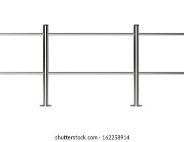 metal supermarket barrier on white