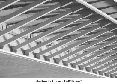 the metal support parts on the bridge