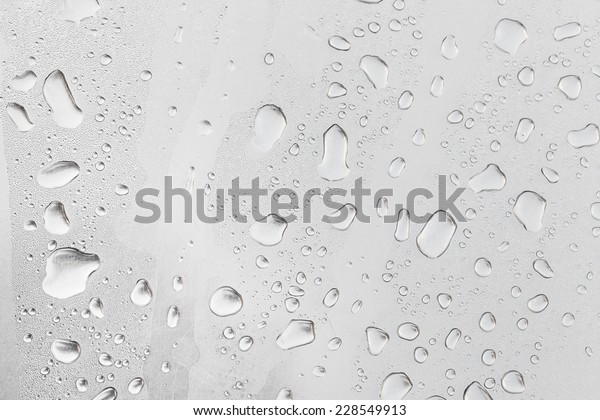 Metal Surface Covered Water Drops Bottom Stock Photo Edit