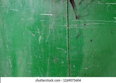 Metal surface green old aged tracs markings detail