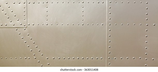 metal surface of military aircraft