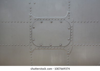 Metal surface of military Armored with cover.