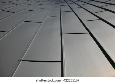 metal surface with texture and structure