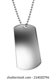 Metal tag. 3d illustration isolated on white background