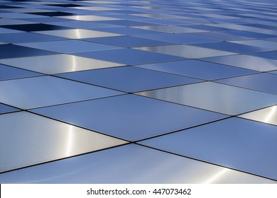 Metal texture background. Abstract architectural pattern. Colored metals plates
