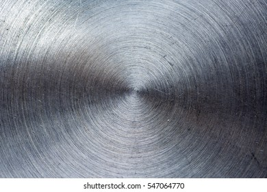Metal texture background. Circles scratched.