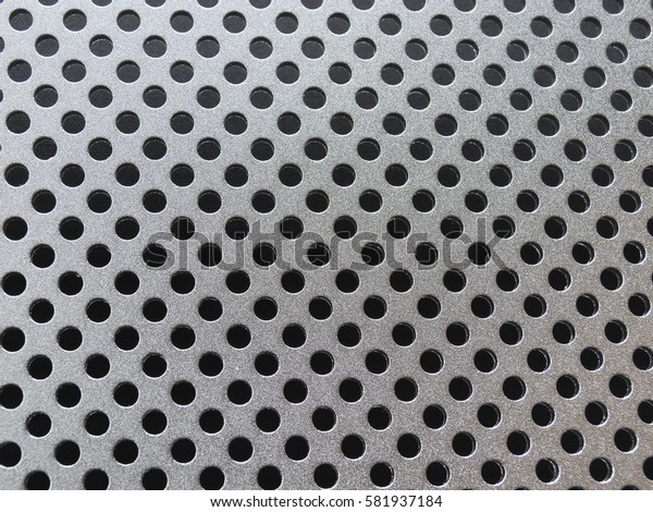 Metal texture with holes