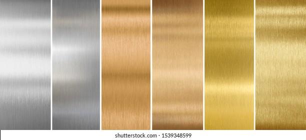 metal textures or backgrounds set