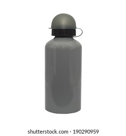 Metal Thermos isolated