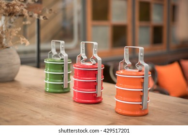 Metal Tiffin vintage style color tone