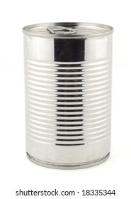 Metal tin of canned