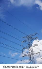 metal tower of Power Lines