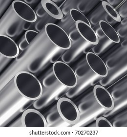 Metal tube - industrial background