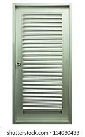 Metal ventilating door