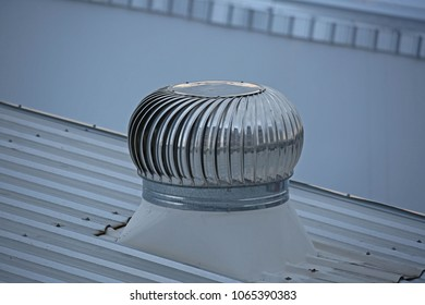 Metal ventilation on the roof