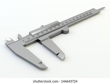 Metal vernier caliper isolated on white background