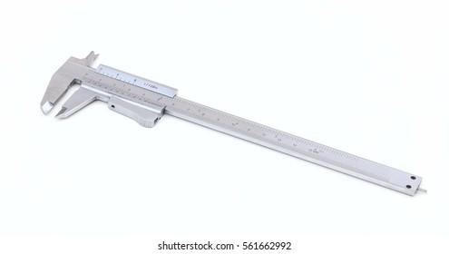 Metal vernier calliper isolated on white background