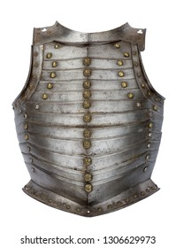 metal vintage soldier or knights breast plate with decoration