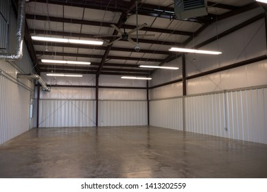 Metal warehouse. Ductwork. Flue and Vent.