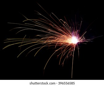 Metal Welding with sparks.