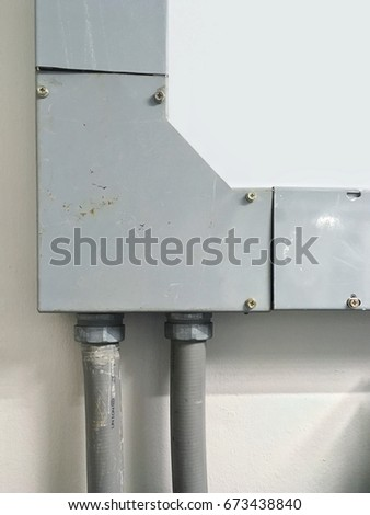 Prime Metal Wire Way On Wall Cable Stock Photo Edit Now 673438840 Wiring 101 Orsalhahutechinfo