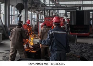 Metal work, melt metal work