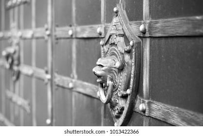 metal wrought-iron gate