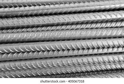 Metallic armature horizontal rows background