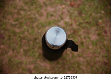 Metallic caps of a drinking water bottle unique photo