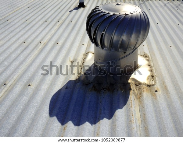 Metallic Chimney Top Draft Inducers Exhaust Stock Photo Edit Now 1052089877
