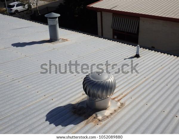 Metallic Chimney Top Draft Inducers Exhaust Stock Photo Edit Now 1052089880