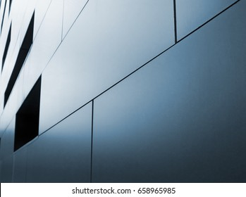 metallic cladding on modern industrial building
