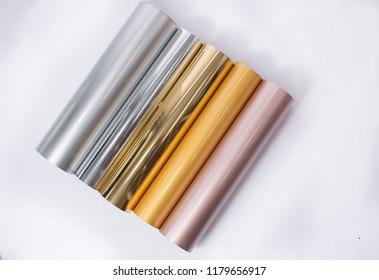 Metallic colored vinyl rolls