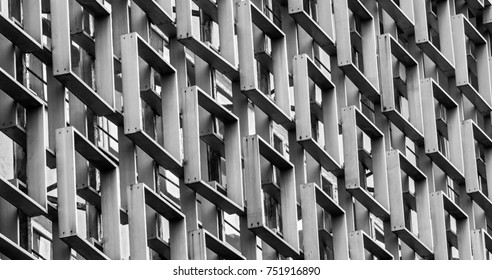 metallic construction posited in black and white