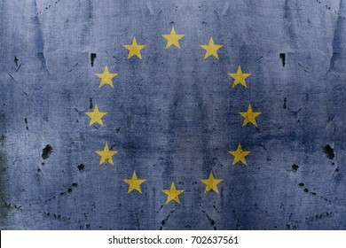 Metallic Europe Union flag