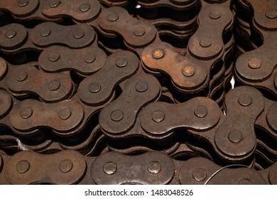 Metallic gear details, industrial background texture, Norwegian Petrolium museum, Stavanger, Norway