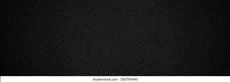 Metallic glitter black texture background, close up  banner