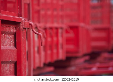 Metallic handles of the tractor trailers isolated unique photo